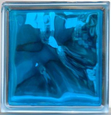 ガラスブロック(6個セット)190x190x95雲インカラー スカイ ブルー青色41095-6p B00A62CFA0 11700