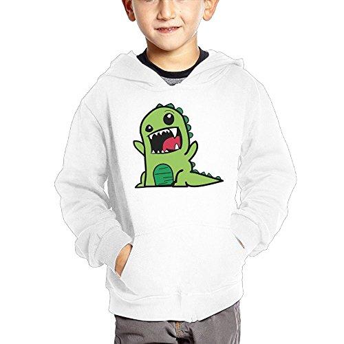Four Paws Vita Greens (Joapron Green Dinosaur Baby Kids Long Sleeve Pocket Pullover Hooded Sweatshirt White Size 3 Toddler)