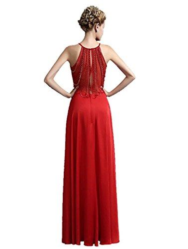 Beauty-Emily Korn lange ein Online-halter ärmel See-Thought Zurück  Abendkleider Rot ... 008ba0d72c