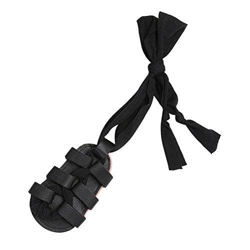 Sandalias De Bebe,BOBORA Prewalker Zapatos Primeros Pasos Para Bebe Vendajes De Bebe Con Sandalias negro