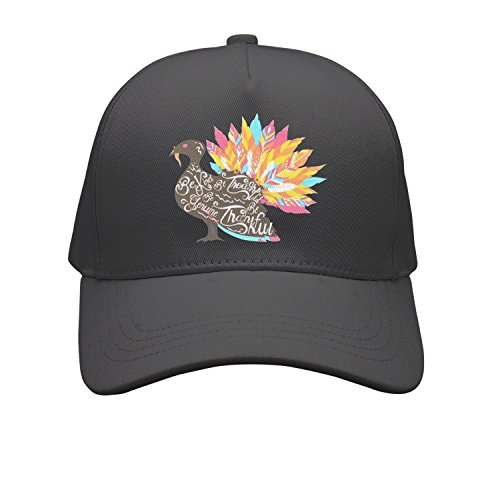 OKSDLK Be Kind Be Thankful Thanksgiving Turkey Snapback Hats Visor Hats Black