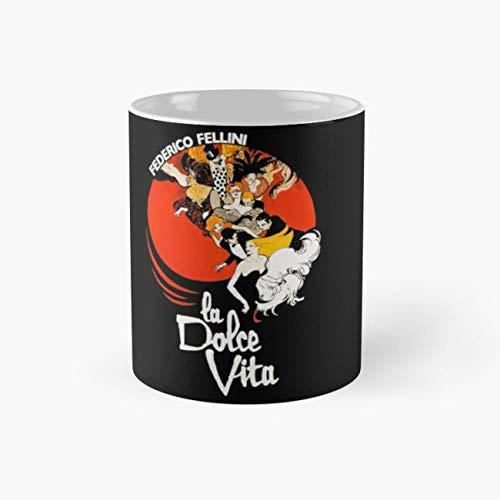 La dolce vita Mug, cinema Funny Mugs, 11 Ounce Ceramic Mug, Perfect Novelty Gift Mug, Tea Cups, Funny Coffee Mug 11oz, Tea -