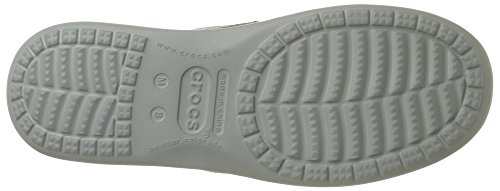 Crocs Mens Santa Cruz Clean Cut Fannullone Fumo / Grigio Chiaro