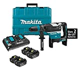 "Makita XRH07PTU 18V x2 LXT Lithium-Ion (36V) Brushless Cordless 1-9/16"" Advanced AVT Rotary Hammer Kit, Accepts Sds-Max Bits, Aws (5.0Ah) and Two Extra BL1850B 18V Batteries"