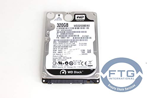 - 726837-001 / WD3200BEKX WD Black Series WD3200BEKX 320GB 7200 RPM 16MB Cache SAT
