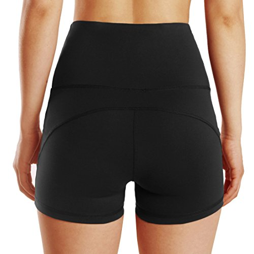 Pantaloncini Yoga da da alta vita nera Active allenamento a Donna Pantaloncini allenamento Xw6qBxB