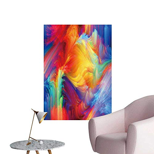 """SeptSonne Modern Decor Colors in Bloom Series Backdrop Compose Color Textures Ideal Kids Decor or Adults,28"""" W x 48"""" L"""
