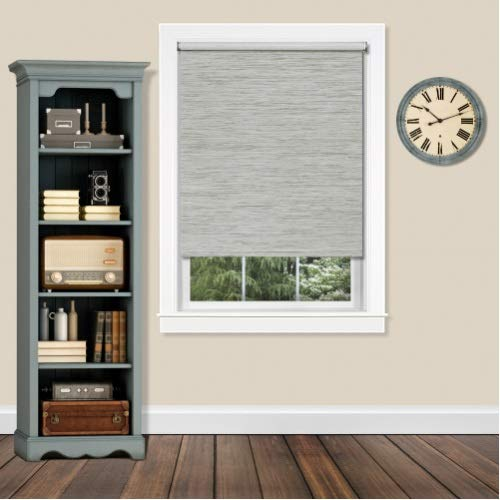 """Achim CPS316HT01 Cordless Privacy Jute Shade Heather, 31"""" x 72"""", Gray from Achim"""