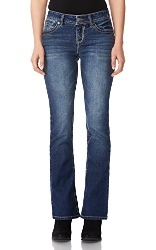 WallFlower Women's Juniors Basic Legendary Bootcut Jeans in Katy Size:13 Short