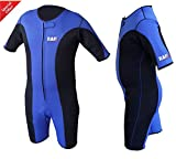 Heavy Duty RAD Sauna Sweat Suit Gym Boxing MMA Weight Loss Slimming Shorts UFC Blue & Black (Medium) Review