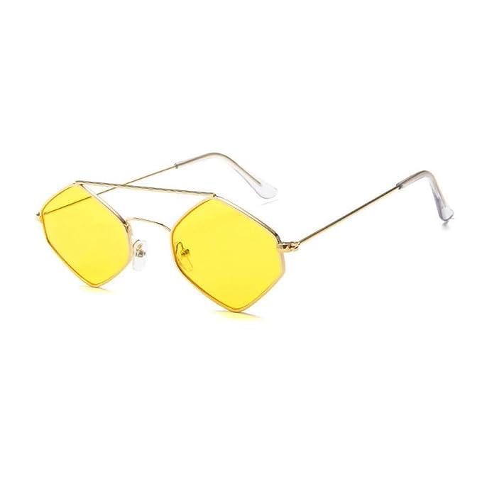 CCGKWW Gafas De Sol Hexagonales Mujer Gafas De Sol De Marca ...