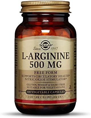 Solgar L-Arginine 500 mg, 100 Vegetable Capsules