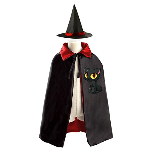 [Naughty Cat Reversible Robe Cloak and Hat in Halloween Fancy Ball] (Homemade Naughty Halloween Costumes)