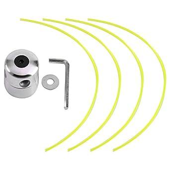 Fdit Carretes para Recortadoras de Cable Cabeza de Aluminio Condensador de Ajuste de Hierba Bobina con 4 Líneas Cabeza de Corte de Cepillo para ...