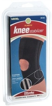 c16fa4c8df Image Unavailable. Image not available for. Color: Mueller Sports Elastic  Compression Open Patella Knee Stabilizer Brace ...