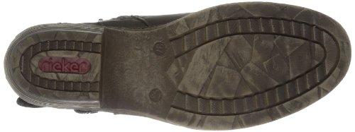 Rieker93766 - botas de cowboy de caña media forradas mujer negro - Schwarz (schwarz 00)