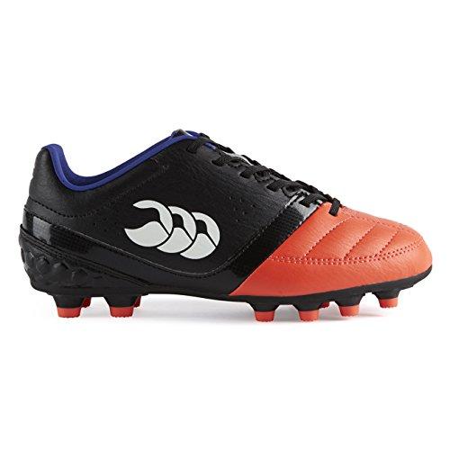 Canterbury Phoenix Club Moulded, Botas de Rugby Unisex Niños Negro (98A Black/Firecracker)
