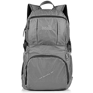 Outlander Large Packable Handy Lightweight Travel Hiking Backpack Daypack-Grey