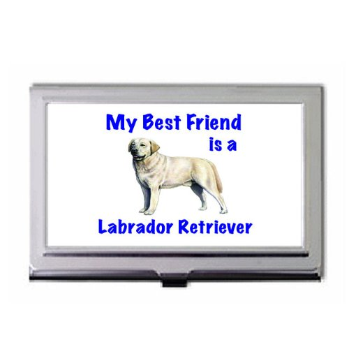 My Best Friend is Labrador Retriever Business Card Holder (Labrador Business Card Holder)