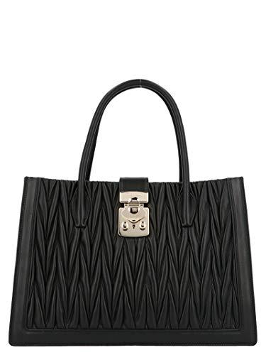Miu Miu Women's 5Ba134n88f0002 Black Leather Handbag