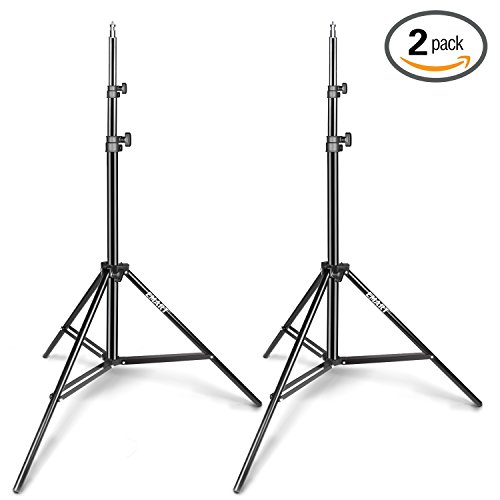 Emart Light Stand, 6.2ft Photography Stands for Photo Video Studio, Background, HTC Vive, Softbox, Reflector, etc. (2 Pack)