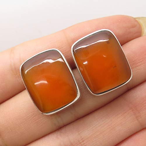 VTG Mexico 925 Sterling Silver Simulated Amber Earrings