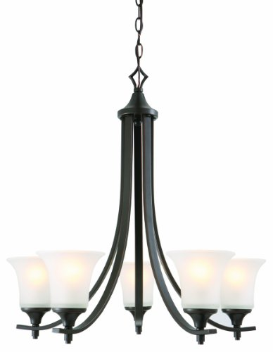 Design House 515791 Juneau 5 Light Chandelier, Oil Rubbed Bronze -