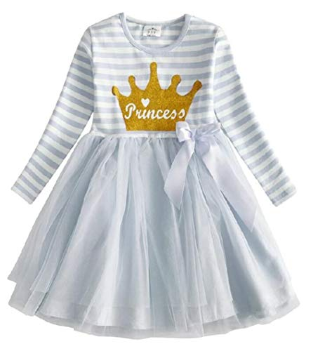 VIKITA Toddler Girl Princess Crown Winter Long Sleeve