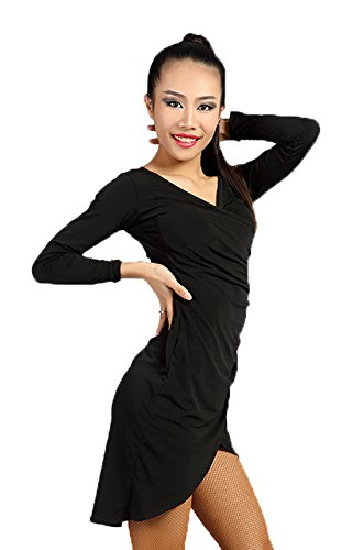 Baile sbs De Scgginttanz Latin Vestido Danza black Profesional Para Latino Moderno G3027 Mujeres qnnPg8BA