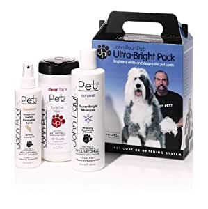 """Brand New JOHN PAUL PRODUCTS LLC - ULTRA BRIGHT/WIPE (3 PIECES) """"DOG PRODUCTS - DOG GROOMING - SHAMPOOS & SOAP"""""""