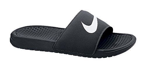 dddaa87bf086 Nike Men s Benassi Swoosh Slide Sandal Black White Size 17  Amazon ...