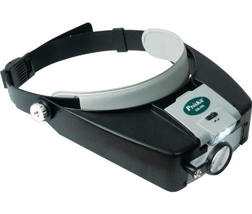 Lupa Diadema ajustable Calidad garantizada. 3 lentes y luz