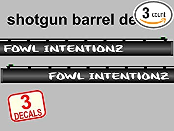 Amazoncom Gun Barrel Decals Fowl Itentionz Waterfowl Shotgun - Custom gun barrel stickersgun barrel decals
