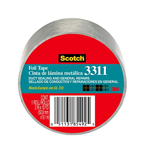 Scotch Foil Tape 2 Inches By 50 Yards 3311 1 Roll Industrial Scientific