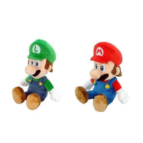 Little-Buddy-Mario-Plush-Doll-Set-of-2-8-Mario-and-Luigi