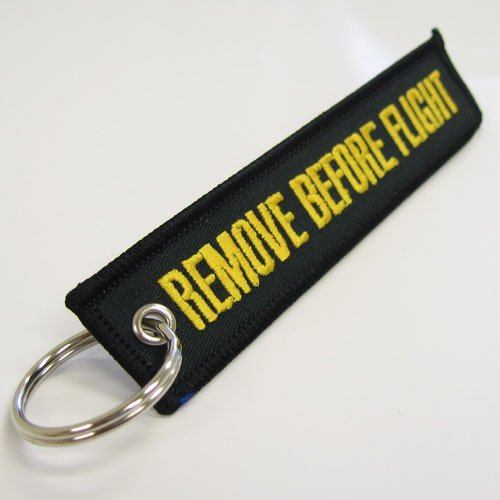 Rotary13B1 Remove Before Flight Keychain Black//Yellow RBF1232
