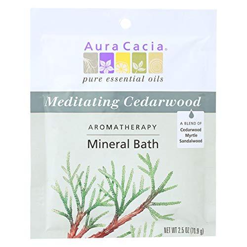 (Aura Cacia Aromatherapy Mineral Bath Meditation - 2.5 oz - Case of 6)
