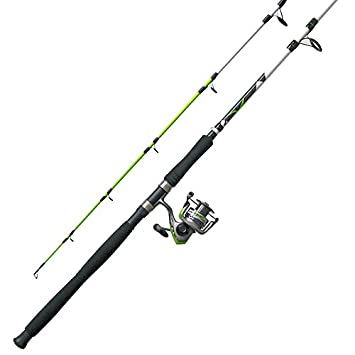 Zebco Quantum BCXT80102MHA.NS3 Zebco Quantum, Big Cat XT Spinning Combo, 4.9 1 Gear Ratio, 8 Length 2pc, Medium Heavy Power, Ambidextrous