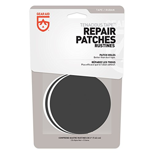 """Gear Aid Repair Patches for and Outdoor Gear, 3"""", Black"""