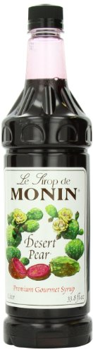Monin Flavored Syrup, Desert Pear, 33.8-Ounce Plastic Bottles (Pack of ()