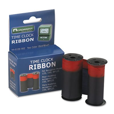 (Replacement Ribbon, For Acroprint 125/150 Models, Blue/Red)