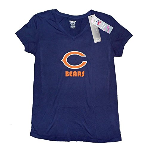 Chicago Bears NFL Womens Maternity Short Sleeve T-Shirt, Navy (Small, -