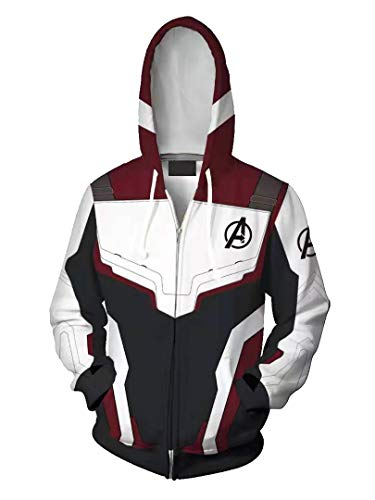 Genzn 3D Printed Sweatshirt Unisex Superhero Jacket for Men Quantum Realm Hoodie Endgame, M