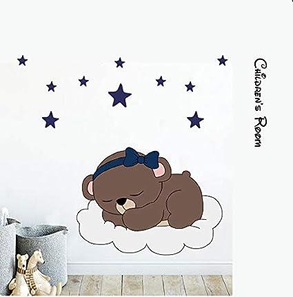 Adesivo Da Parete Buonanotte Orso E Stelle Color Wall