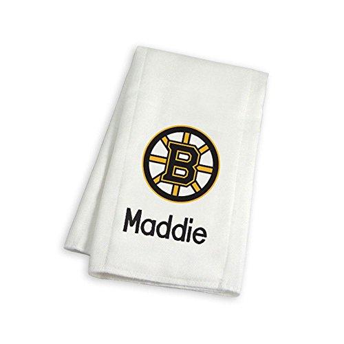 Personalized Boston Bruins Burp Cloth