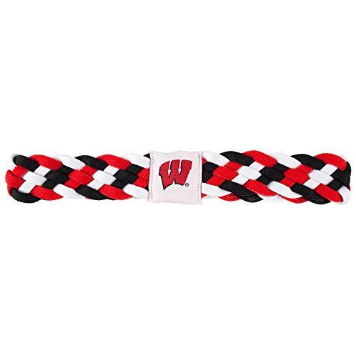 Littlearth NCAA Wisconsin Badgers Braided Headband
