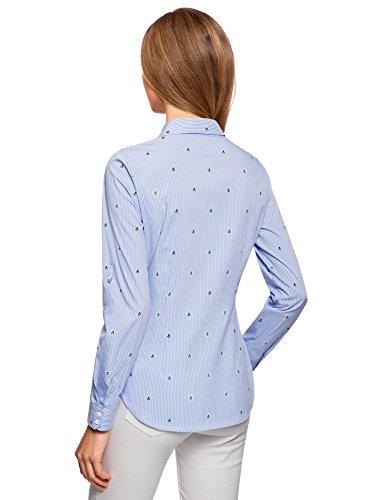 Bleu Chemise Ultra Poitrine oodji 7010s de Poches Femme avec EwPZn0q4O
