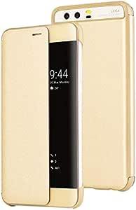 Huawei P10+ Plus Smart View Flip Cover Case - Gold