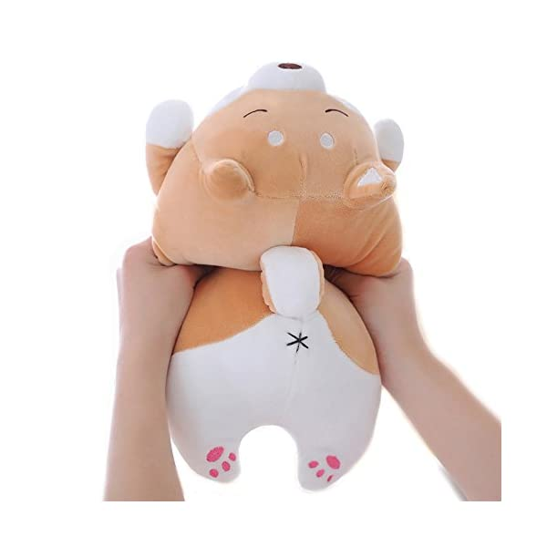 "Shiba Inu Dog Plush Pillow, Cute Corgi Akita Stuffed Animals Doll Toy Gifts for Valentine's Gift, Christmas,Sofa Chair, Brown Blink 15"" 3"