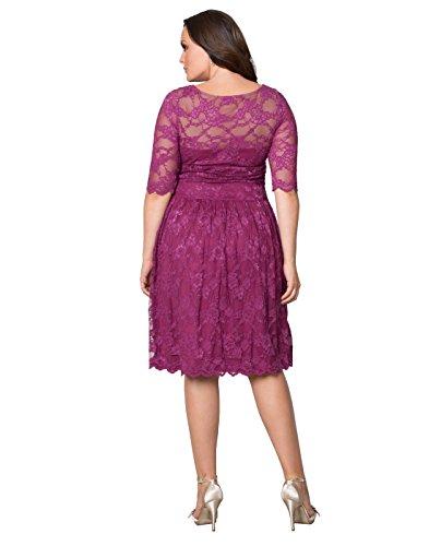 Kiyonna Women's Plus Size Luna Lace Dress 1x Glazed Raspberry